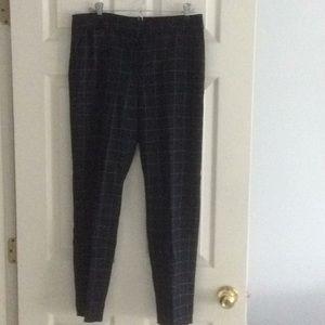 Windowpane wool trousers